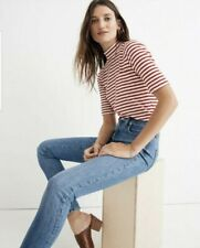 """NWT MADEWELL 9"""" High Rise Skinny Comfort Stretch Eco Collection Size 24"""