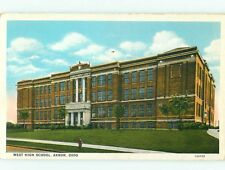 Postcard West High School Akron Ohio # 488A