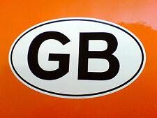 "GB UK ENGLAND Van Car Bumper Caravan Sticker Decal 1 off 5"" or 125mm"