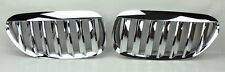 Chrome Front Hood Kidney Sport Grills Pair FITS BMW 6 Series E63 E64 04-10