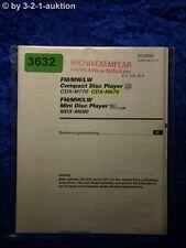 Sony Bedienungsanleitung CDX M770 /M670 / MDX M690 CD Player (#3632)