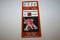 1991 NHL hockey playoff ticket BLACKHAWKS game C - 2ndB