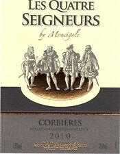 Etiquette de vin - CORBIERES - Les quatre seigneurs by Moncigale - 2010
