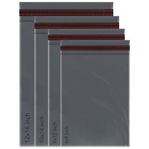 200 MIXED SIZES Grey Postage/Poly/Postal Mailing Bags/Sacks/Envelopes Self Sea