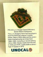 Pin #2 Los Angeles Dodger Award Winners Stolen Base Champions Unocal 76