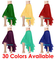 Belly Dance Chiffon Flamenco Skirts Ruffle Asym Gypsy Dancewear Jupe Tiered Boho