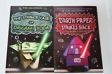 LOT of 2 Star Wars Kid Books ORIGAMI YODA SERIES Darth Paper & Origami Yoda