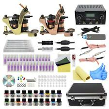 Complete Tattoo Kit with Case Liner and Shader 30 needles 20 inks Power Supply