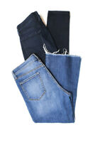J Brand Womens Mid Rise Straight And Skinny Leg Jeans Blue Size 29 Lot 2