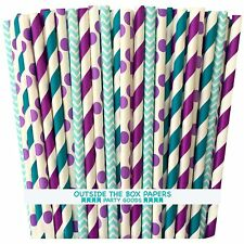 Outside the Box Papers Under The Sea Themed Paper Drinking Straws 7.75 Inch