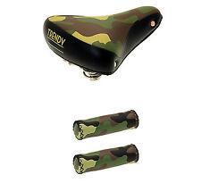 Sillin de GEL para Bicicleta de Muelles + Puños Piel Camuflaje Militar 3899 3913