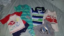 5 Baby Boy Outfits Size 6-9 Months