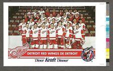 1992-93 Kraft Dinner(Canada) Detroit Red Wings Team Photo Oversize Proof,Yzerman