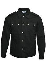 Men's 60s Indie Mod Black Military Over shirt Jacket