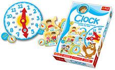 Trefl Kids Little Explorer Educational Clock Kids Game Pieces Childrens Cards