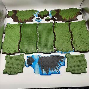 Mega Bloks Dragons Halo Terrain / Rock / Grass Green Base Plate Joblot Lego Comp
