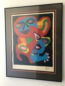 """Karel Appel """"Chien De Face"""" Original Artist Proof Signed Lithograph"""