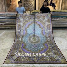 YILONG 6'x9' Handmade Silk Rug Durable Living Room Traditional Carpet Z269A