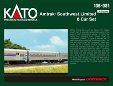 Kato N Scale Amtrak Southwest Limited 8 Passenger Car Set w/Display Track 106081