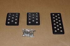 740 & 940 Volvo CNC Machined Billet Aluminum Pedal Cover Kit - Black Finish