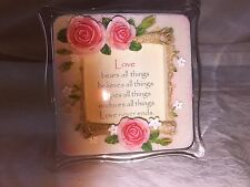 Magnetic Sentiments Mini Picture Quote Frame with Flowers store#F1