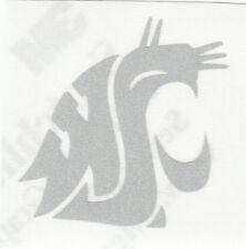 REFLECTIVE Washington State Cougars 2 inch fire helmet decal sticker RTIC