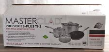 NEW Masterclad Pro Series 7-Piece Cookware Set 5-Ply Stainless Steel Oven Safe