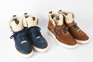 *NEW* $248 Coach Urban Hiker in Suede Leather Upper Shearling size 9 or 9.5