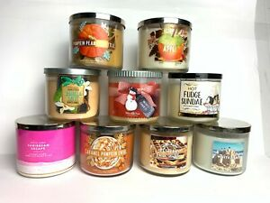 Bath & Body Works Scented 3-Wick Candle 14.5 oz (411g) *CHOOSE!* Free UK Ship!