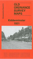OLD ORDNANCE SURVEY MAP KIDDERMINSTER 1921