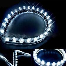 2x New 3825 SMD 24cm 24-LED Flexible PVC Strip Light Waterproof White