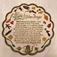 """Vintage MY KITCHEN PRAYER Plate 10"""" diameter"""