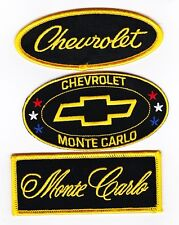 CHEVROLET MONTE CARLO SEW/IRON ON PATCH BADGE EMBLEM EMBROIDERED CHEVY LOWRIDER