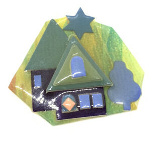 Lucinda Yates, DESIGNS by Lucinda Brooch House Pin, Star Tree