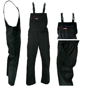 Arbeitslatzhose Arbeitskleidung Schwarz Latzhose Blaumann Arbeitshose Gr.48 - 62