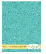 Taylored Expressions ~ A2 Embossing Folder ~ PEACEFUL POINSETTIA   ~ TEEF57