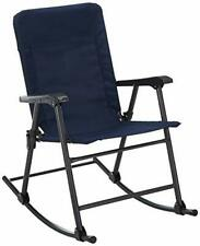 Elite Folding Rocking Chair w/ Tubular Steel Frame - Midnight Blue (13-6501)