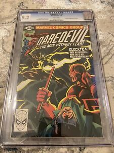 1981 DAREDEVIL #168 1st appearance ELEKTRA graded CGC 9.2 Frank Miller OW pages