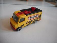 """Matchbox Mercedes News Truck """"Cable TV"""" in Yellow"""