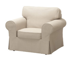IKEA EKTORP Chair Cover Nordvalla Dark Beige Armchair Slipcover