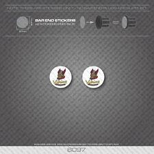 6097 - Viking Bicycle Handlebar Bar End Plug Stickers - Decals