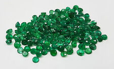 3.7mm 0.37cts 2pc Natural Emerald Brazil Origin Nontreated Round Transparent