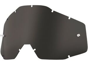 100% - Replacement Dark Smoke Lens for Racecraft Accuri Strata - 51001-018-02