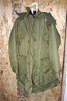 USED CANADIAN ARMY PARKA  EXTREME COLD WEATHER  COMBAT  SHORT REGULAR 67/40