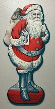 Antique Card Paper Cutout Seal? Christmas Santa Lovely Graphics