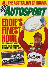 Autosport 11 Mar 1999 - Eddie Irvine, Australian GP, World Rally, Ford,