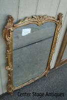 57537 ANTIQUE VEERHOFF Wood and Gesso Gold Mirror
