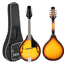 High Quality Wood Solid F-Style Sunburst Mandolin 8 String Guitar with Case Gift