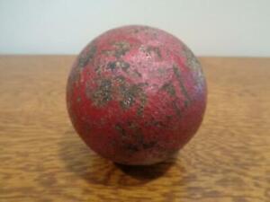 "Vintage Cast Iron Cannon Ball Civil War Era 3"" dia weighing 3 lb 14 oz"