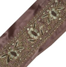 Vintage Saree Border Indian Craft Trim Hand Embroidered Beaded Ribbon Lace